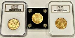 3 MINT STATE U.S. $10 GOLD COINS TWO CERTIFIED NGC SEE OTHER GOLD COINS $4271.00