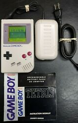 Nintendo DMG-01 Game Boy Handheld System - With Tetris & Portable Charger $59.99