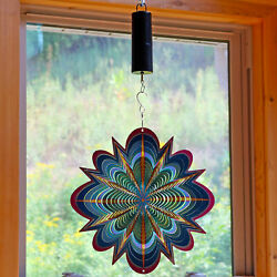 Sunnydaze 12 Inch Blue Dream Whirligig Wind Spinner with Battery Operated Motor