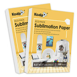 220 Sheets Sublimation Paper for Inkjet Heat Transfer 8.5x11 Cotton Poly Mugs $22.99