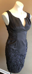 ADRIANNA PAPELL Size 4P Petite Dress Cocktail Party Embellished Deep Purple $25.00