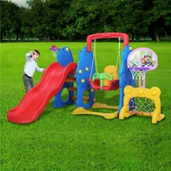 Kids Swing Slide Climber 5 in 1 Set Backyard Playroom Fun Playset Toddler Toy $189.99