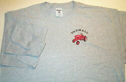 Farmall Cub Embroidered Mens Long Sleeve T-shirt (4 colors) $18.00