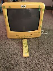 """Spongebob Squarepants 13"""" TV DVD Combo With Remote Tested And Works Great $199.99"""