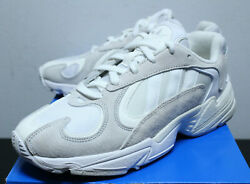 Adidas Yung 1 Cloud White Grey Basketball Sneakers Men#x27;s Size 8 13 B37616 New $49.99
