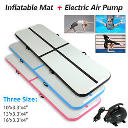 10 16FT Inflatable Airtrack Gymnastics Tumbling Mat Training Gym Home w Pump $214.99