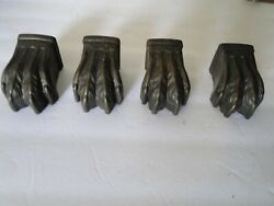 4 Metal Vintage Table Leg Claw Foot Caps $24.99