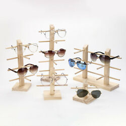 Wood Sunglasses Eyeglass Rack Glasses Display Stand Holder Organizer Tray Fra J2 $9.09