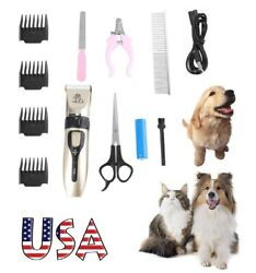 Pet Dogs Shaver Clippers Low Noise Rechargeable Cordless Trimmer Grooming Kits $14.93