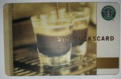 Starbucks 2008 Old Logo Coffee As Art Double Espresso Korea Card $84.99
