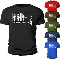 Problem Solved Funny T Shirt Girlfriend Novelty Sarcastic Breakup Gift $12.90