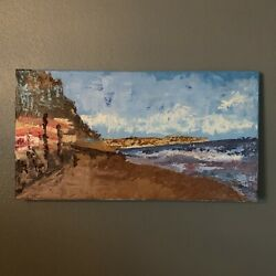 Seascape Beach Oil Painting Original Abstract Wall Art Canvas Oil Painting $170.00