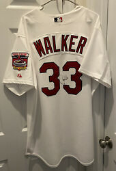 Larry Walker St. Louis Cardinals Game Issued Used Worn 2005 Signed Jersey $1999.99