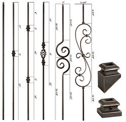 SOLID Oil Rubbed Copper Modern Series Iron Balusters Wrought Iron $15.73