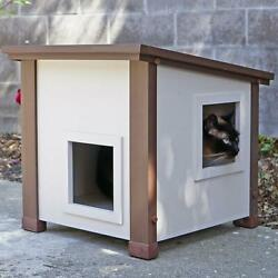 Small Outdoor Albany Feral Cat Shelter Weather resistant Outdoor Cats 17.4lb $119.85