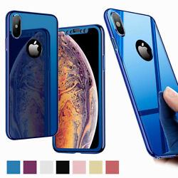 For iPhone XS Max XR XS X 8 7 6 Plus Slim Shockproof with Screen Protector Case $12.84