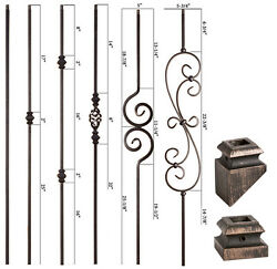 SOLID Oil Rubbed Bronze Modern Series Iron Balusters Wrought Iron $14.62