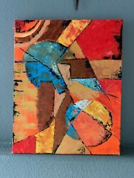 Abstract Red Oil Painting Original Abstract Wall Art Canvas Oil Painting 16x20 $180.00
