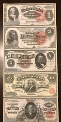 Reproduction Set 1886 Silver Certificates USA Currency Copies $1 $2 $5 $10 $20 $11.99