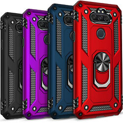 For LG Phoenix 5 Phone Case Ring Kickstand Cover Tempered Glass Protector $9.99