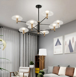 8 Heads Light Glass Jellyfish Chandeliers Home Modern Lighting Ceiling Lamps $158.39