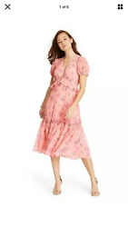 Love Shack Fancy for Target Fleur Peach Floral Dress Brand New $39.99