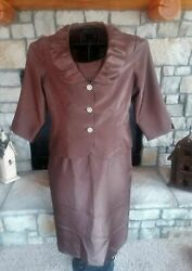 Jessica Howard Evening Brown Women Two Piece Dress Jacket Dressy Party 14 Petite $19.95