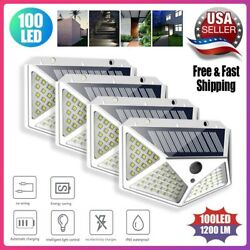 Waterproof 100 LED PIR Motion Sensor Solar Power Outdoor Garden Lamp Yard Light