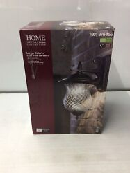 Home Decorators Collection Large Exterior LED Wall Lantern Bronce patina finish