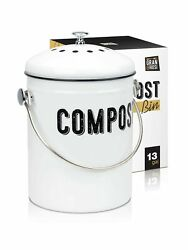 Granrosi Stylish Farmhouse Kitchen Compost Bin 100% Rust Proof w Non Smell ... $36.99