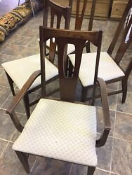 Mid Century Modern Set of four Chairs by Bassett Furniture $200.00