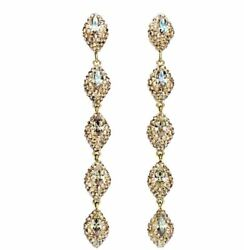 NIB $249 Atelier Swarovski Moselle Mini Drop Pierced Earrings Gold #5414435 $159.00