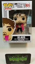 FUNKO POP KLAUS THE UMBRELLA ACADEMY #931 NETFLIX EXCLUSIVE FAST FREE SHIPPING $32.99
