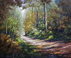 Forest Entrance Picture Art Painting Photo Forest Image Unframed Picture $0.99