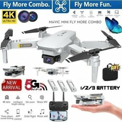 Drone 4K Dual Cameras Foldable Wi Fi Remote Control RC Hobby Toys Quadcopter Kit $158.95