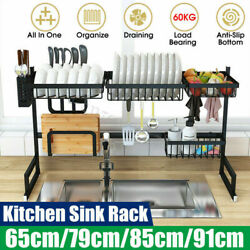 26quot; 33quot; Over Sink Dish Drying Rack Stainless Steel Drainer Kitchen Holder Shelf $55.99