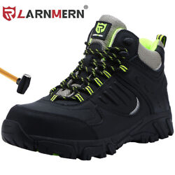 LARNMERN Steel Toe Boots for Mens Safe Comfortable Industrial Construction Shoes $49.80