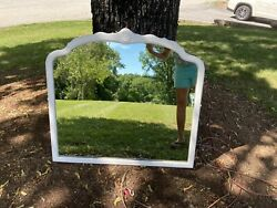 Antique Wall White Painted Mirror 34 Wide X 31 1 2 High $69.00