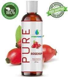 Rosehip Seed Oil 4 oz Cold Pressed REFINED 100% Pure Organic For Skin Face Hair $11.95