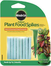 Indoor Fertilizer Plant Food With 24 Spikes Fast Grow Plants Miracle Gro 1 Pack $4.85
