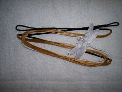 Bow string for 66quot; recurve actual length 62quot;Gold Black experienced stringmaker $9.99
