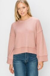 Double Zero Nordstrom Long Sleeve Cropped Pullover Sweater $17.95