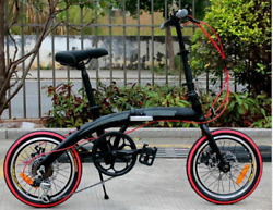 16quot; inch Aluminum Folding Frame Bicycle 7 Speed TX50 Shifters Double Disc Brake $448.00