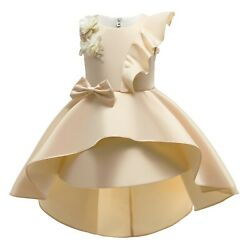 Girls Party Dresses Bridesmaid Bow knot Flower Wedding Princess Formal Pageant $28.99