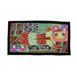 Vintage Embroidered Patchwork Indian Boho Bedroom Bohemian Tapestry Wall Hanging $14.99