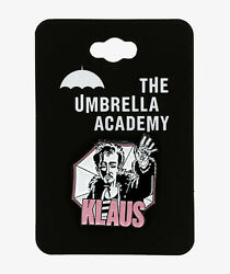 The Umbrella Academy KLAUS NUMBER FOUR ENAMEL PIN Bioworld Netflix New $11.21