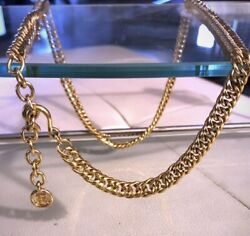Givenchy Vintage Gold Tone Chain Belt or Necklace $285.00