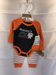 Baby Halloween Boy or Girl 3 Piece Outfit Set NWT Mommy#x27;s Little Monster 6M $14.99