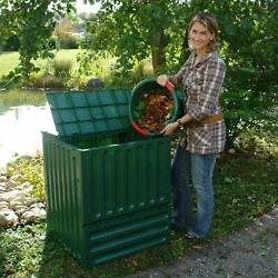 Exaco Eco King 110 Gal. 400 Recycled Plastic Compost Bin Green FREE SHIPPING $122.02