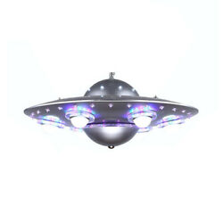6 Lights UFO Shape Chandelier Lamp Astronomy amp;Spaceship Silver Ceiling Light $219.00
